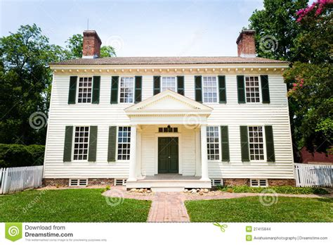 large white colonial style home stock photo image