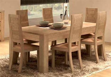 table salle a manger massif salle 224 manger design figaro en ch 234 ne meubles bois massif