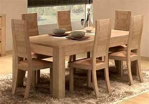 Solde Table A Manger : salle manger design figaro en ch ne meubles bois massif ~ Teatrodelosmanantiales.com Idées de Décoration