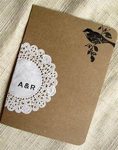 raechel alex39s crafty doily and kraft paper wedding With diy wedding invitations software