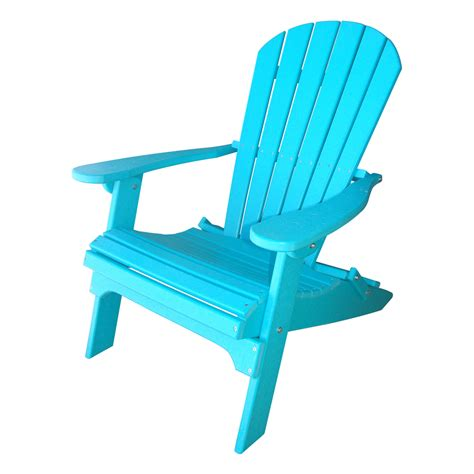 Blue Plastic Adirondack Chairs Home Depot by Shop Teal Plastic Folding Patio Adirondack