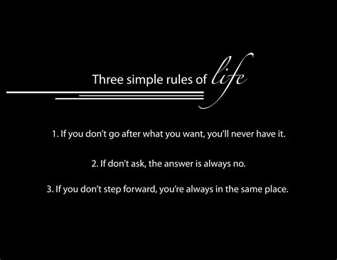 Three Simple Rules Of Life  Life Quote Quotespicturescom