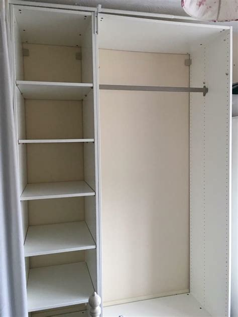 Wooden Wardrobe With Shelves by Sold Pax Ikea Single Fitted Wardrobe With Shelves