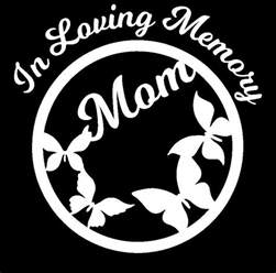 Loving Memory Butterfly Car Decals