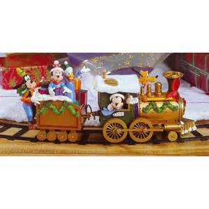 amazon com disney mickey friends quot around the tree quot 17 piece christmas train set