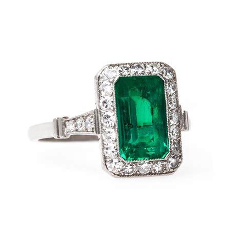 quintessential deco emerald platinum engagement ring at 1stdibs