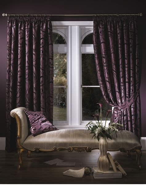 purple curtain luxury bedroom inspiration