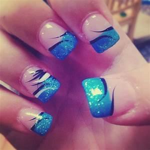 Blue Nail Designs Tumblr Acrylic - cute nail design using ...