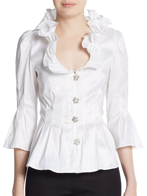 ruffled blouses white womens ruffled shirts blouses compare prices reviews