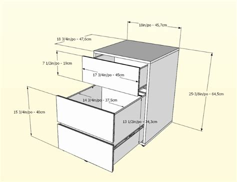 lateral file cabinet dimensions