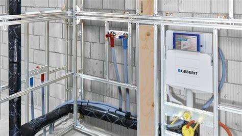 Freistehende Halbhohe Trockenbauwand by Installationssysteme Gis Geberit Deutschland