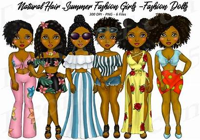 Clipart Natural Planner American African Woman Funky