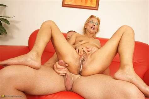 blonde granny creampie