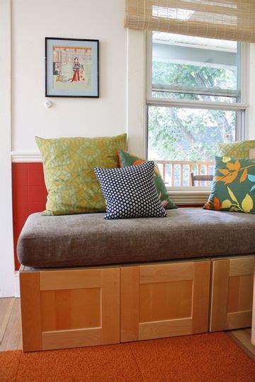 diy  ikea cabinets   kitchen storage bench