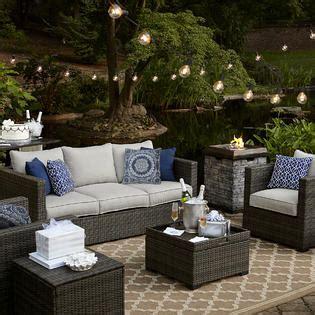 sears patio furniture monterey grand resort monterey 3 sofa seating set grey