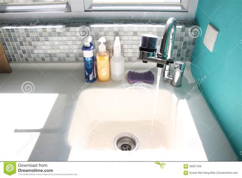 kitchen sink no water kitchen sink and running water stock photo image of 8517