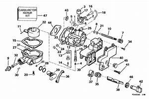 Johnson Carburetor Parts For 1999 4hp J4reea Outboard Motor