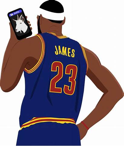 Clipart Lebron Jersey Cartoon Basketball Nba James