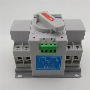 2p 63a 230v Mcb Type Dual Power Automatic Transfer Switch
