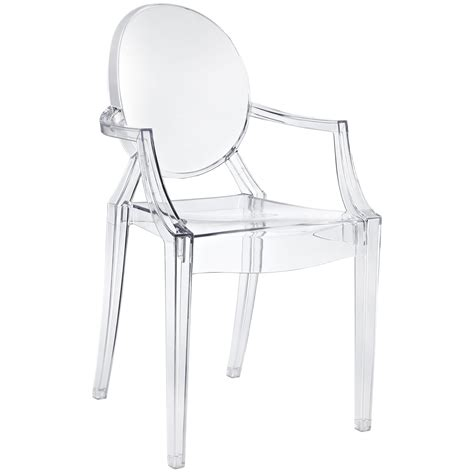 chaise transparente design philippe starck style louis ghost arm chair