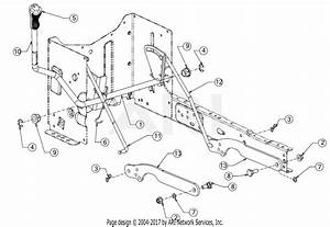 Troy Bilt 13wn77bs011 Pony  2017  Parts Diagram For Deck Lift