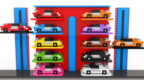 fun cars parking learn colors  street vehicles toys