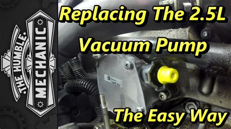 replacing vw  vacuum pump  easy  youtube