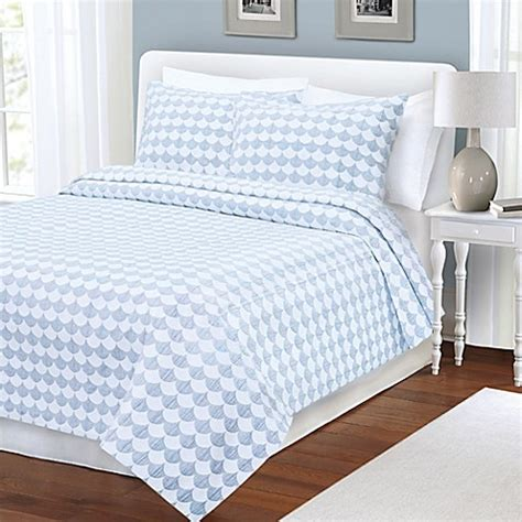 Blue Coverlets For Beds by Buy Finley Coverlet In Blue White From Bed Bath Beyond
