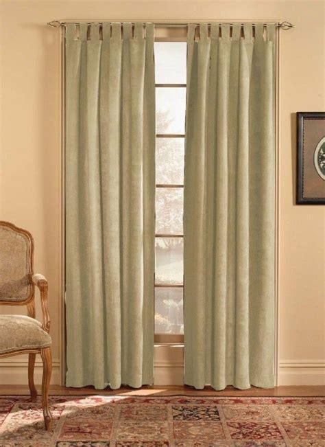 chf  ultra suede tab top window curtain panel beige