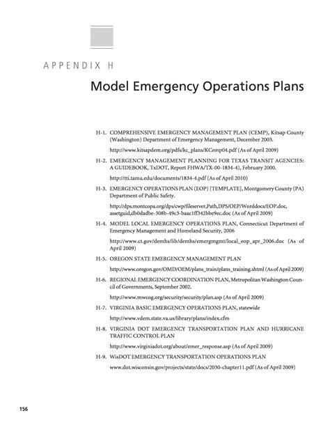 Emergency Operation Plan Template by Emergency Operations Plan Template Choice Image Template
