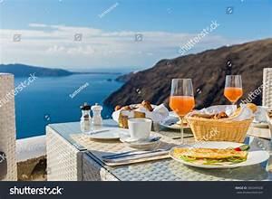 Morning Breakfast On Beach Sea Stock Photo 365049428 ...
