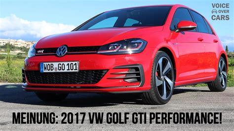 golf gti 7 performance 2017 vw golf 7 gti performance 245ps voice cars