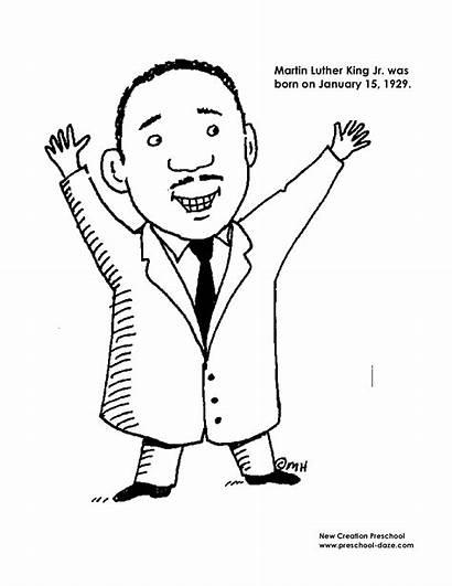 Luther Martin King Coloring Jr Mlk Kindergarten