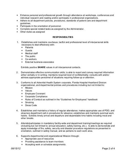Cna Pct Resume Options by 13 Patient Care Technician Description For Resume