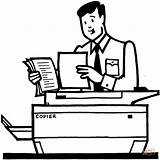 Worker Coloring Copies Makes Office Photocopier Using Infonet Bolivia Supercoloring sketch template