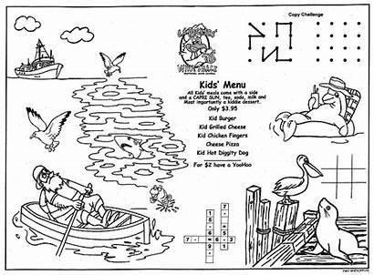 Coloring Menus Children Restaurants Placemats Sea Menu
