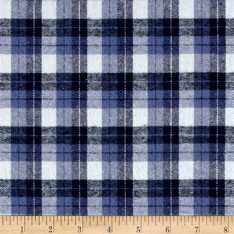 Blue Plaid Upholstery Fabric by Yarn Dyed Flannel Plaid Blue White Discount Designer