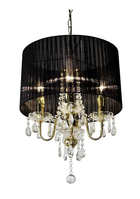 shaded chandelier with drops by made with