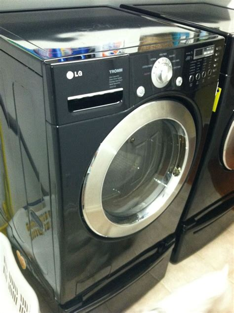 black washer and dryer lg matching black front load washer gas dryer on popscreen