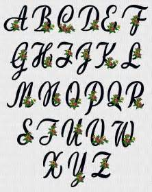 letter designs flower script alphabet embroidery designs