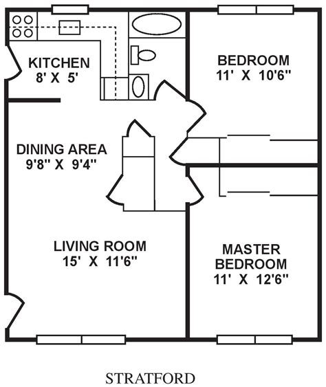 dimensions average size of one bedroom apartment photos and Bedroom