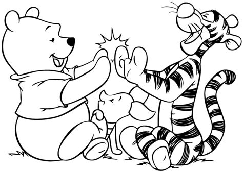 pooh  friends coloring pages  wallpapers page