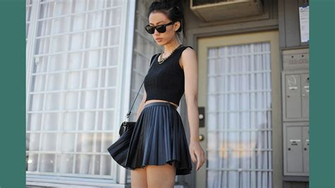 pleated leather skirt hm youtube