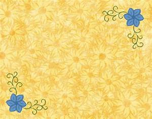 This is nice design borders Yellow and Blue Flowers - A ...
