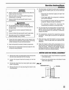 Service Instructions  Motor And Fan Wheel Assembly
