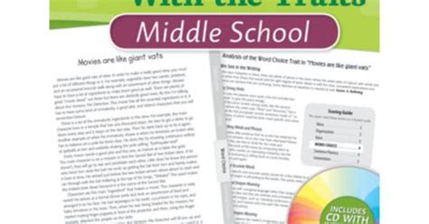 Middle School  Language Arts  Using Benchmark Papers To Teach Writing With The Traits Book