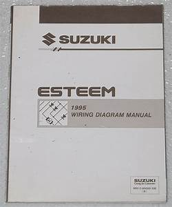 1995 Suzuki Esteem Electrical Wiring Diagrams Factory Shop Manual Gl Glx Plus 95