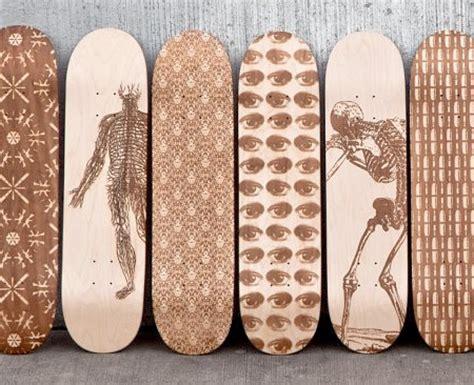laser engraved skateboards