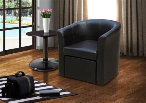 Stylish Faux Leather Tub Chair With Matching Footstool Unique Christmas Decorations Ideas Easy For Kids Elf Porch Diy Wood Dachshund Outdoor Decoration Origami Different Ways To Decorate A Tree