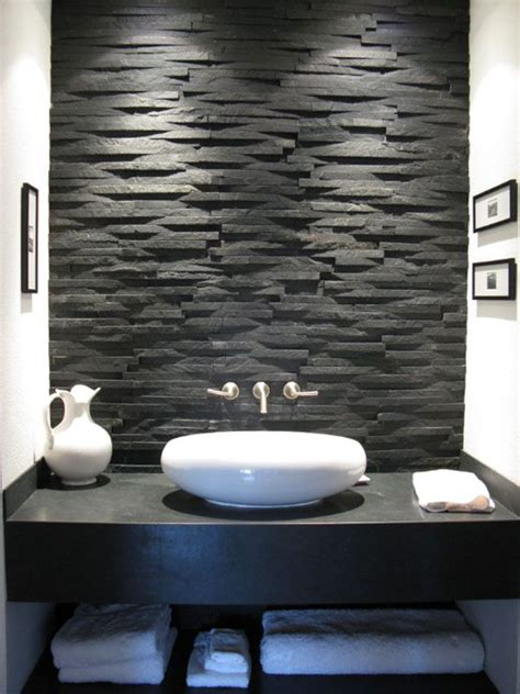 sensational bathrooms  natural stone walls stone